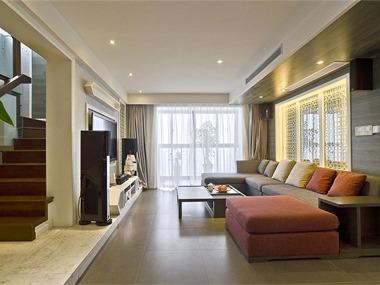 中式客厅沙发背景墙效果图
