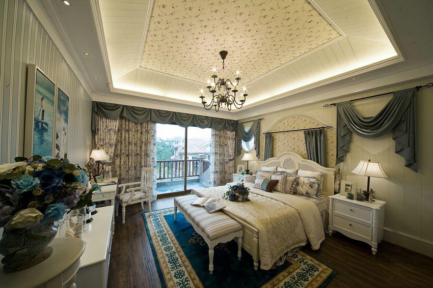 地中海卧室吊顶效果图