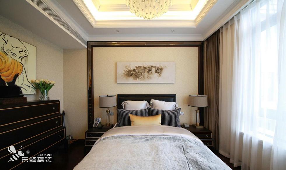 现代卧室背景墙效果图