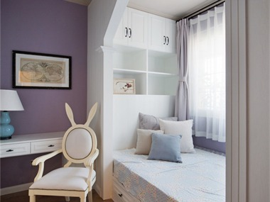 美式卧室飘窗效果图