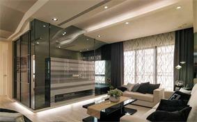 现代客厅电视背景墙效果图