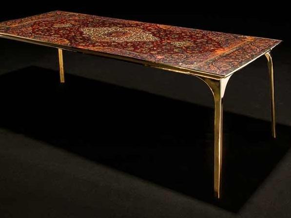 café 6116系列家具 古旧波斯地毯变身华丽桌面