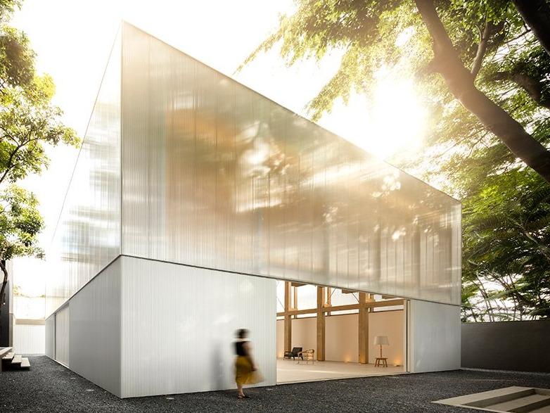 studio MK27打造半透明多功能展馆