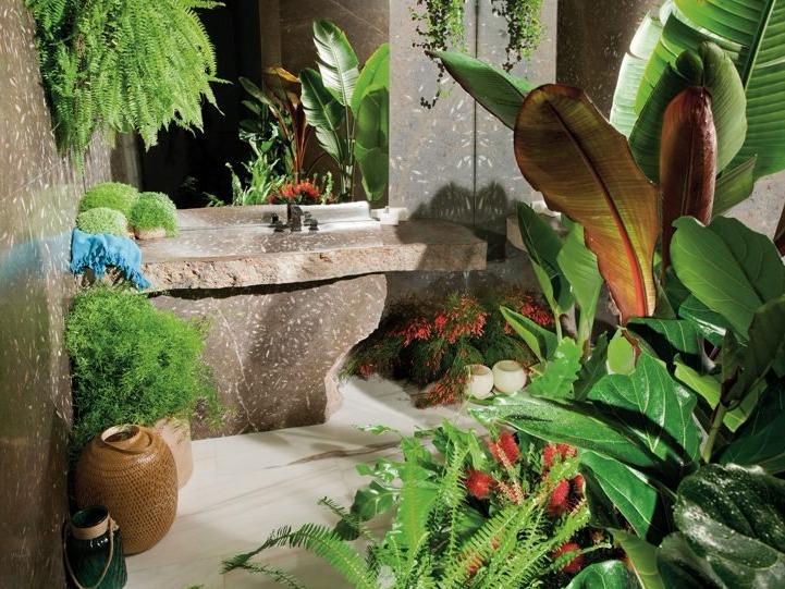 miguel herranz打造原生态天然石材洗手池系列