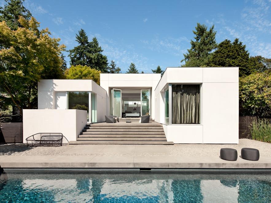 华盛顿现代绿洲,美术馆般的极简住宅