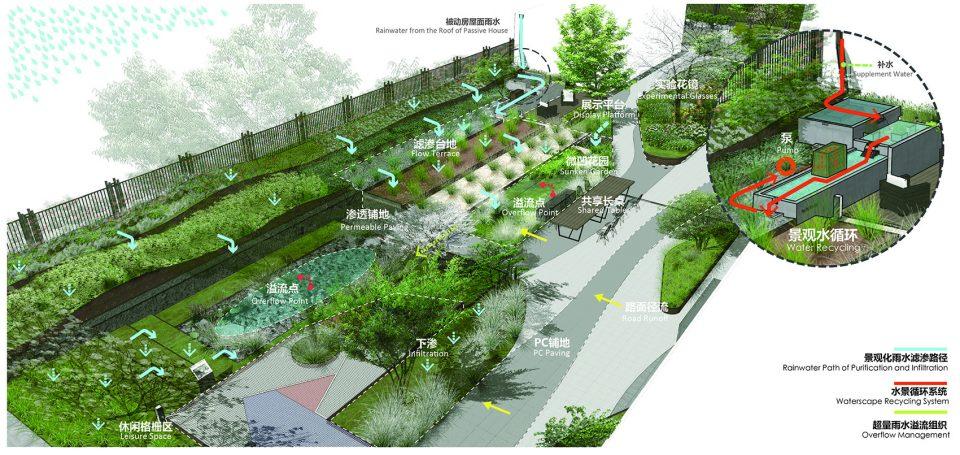 雄安万科·雨水街坊,可复制的海绵城市器官体