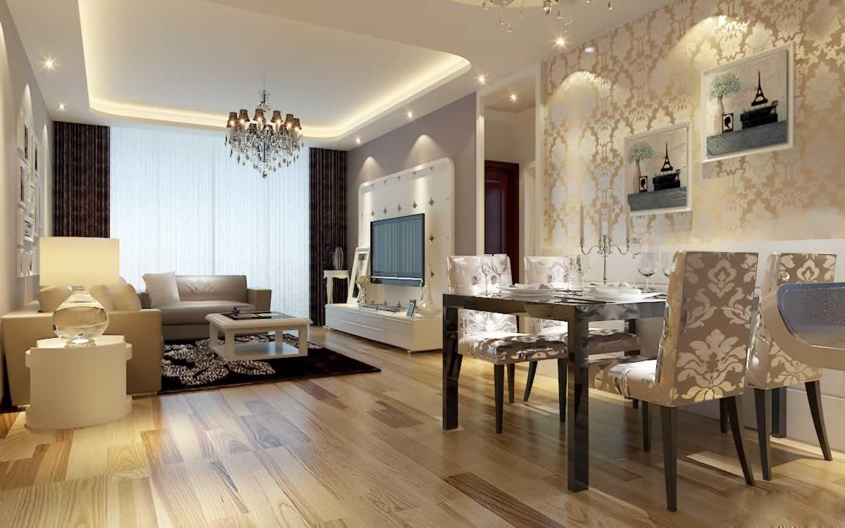 现代简约风格两居室装修效果图欣赏