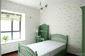 田园卧室飘窗实景图