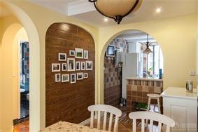 东南亚餐厅照片墙效果图