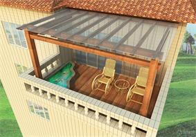 新古典阳台吊顶效果图